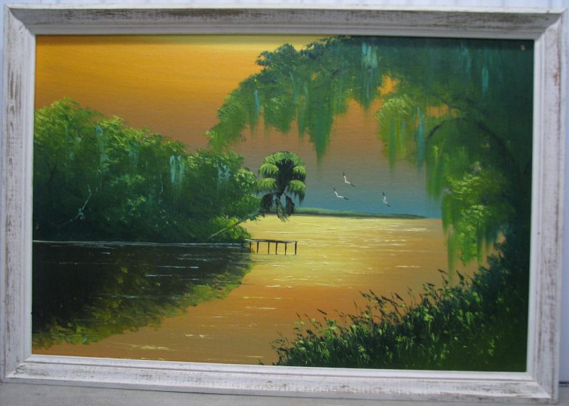 Al Black (Born 1947), Untitled #1, Oil On Upson Board, 61x92cm (Image), 70x101cm (Framed), 1969, Unsigned.