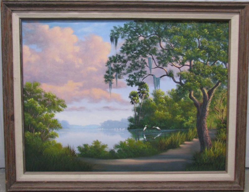 Ellis Buckner, (1943-1991), Untitled #8, Oil on Canvas, 46x61cm (Image), 58x73cm (Framed), 1979, Signed.