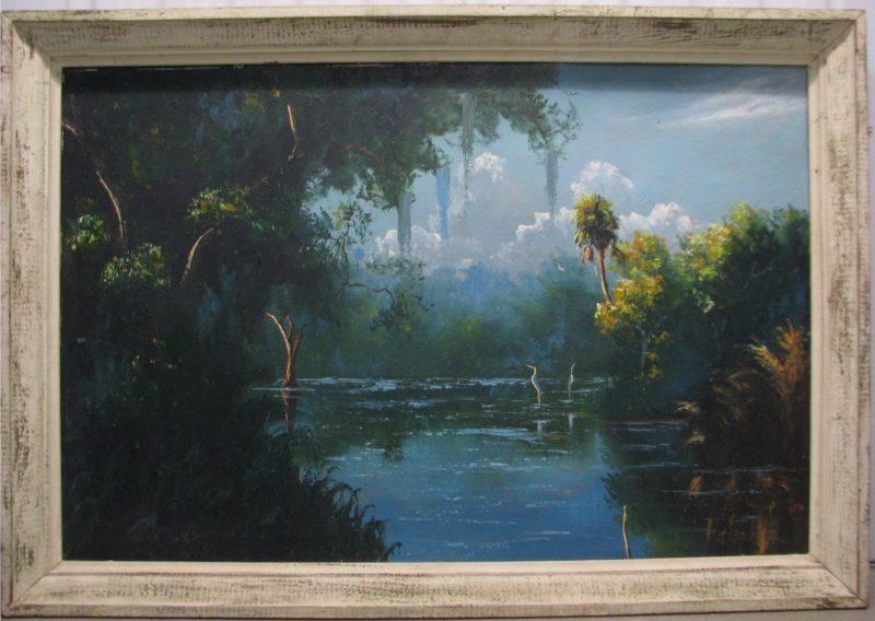 George Buckner, (1942-2002), Happy Hour, Oil on Upson Board, 61x92cm (Image), 71x102cm, (Framed), 1967, Signed.