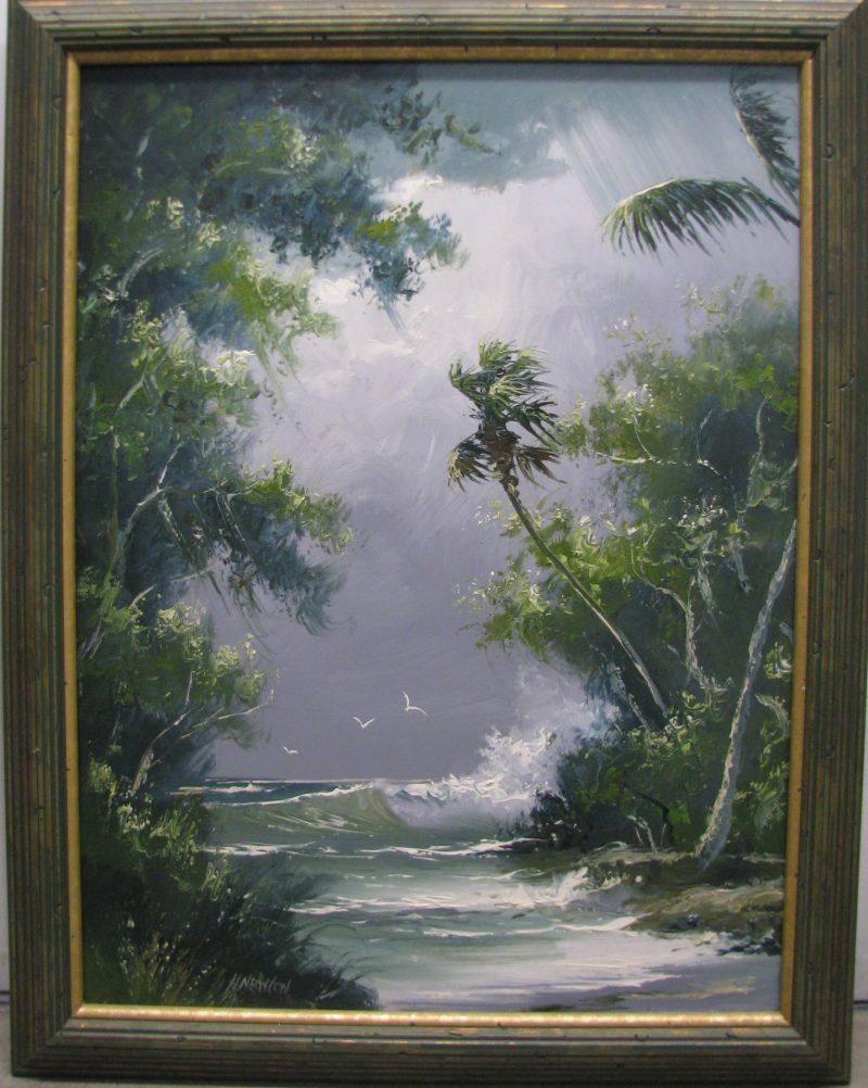 Harold Newton (1934-1994), Stormy Weather, Oil on Masonite, 51x61cm (Image), 60x70cm (Framed), 1987, Signed.