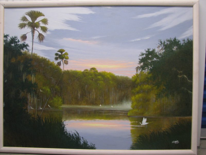 Johnny Daniels (1954-2009), Early Morning Mist, Oil on Canvas, 92x122cm (Image), 97x127cm_(Framed), 1995, Signed.