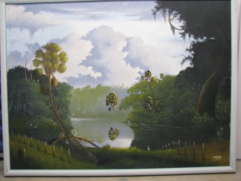 Johnny 'Hook' Daniels,(1954-2009), Untitled #2, Oil On Canvas, 92x122cm (Image), 99x129cm, (Framed), 1995, Signed.