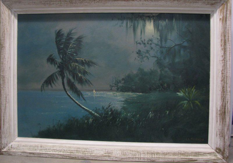 R.A. Roy McLendon (Born 1932), Untitled #1, Oil on Upson Board, 61x92cm (Image) 72x103cm (Framed), 1972, Signed.