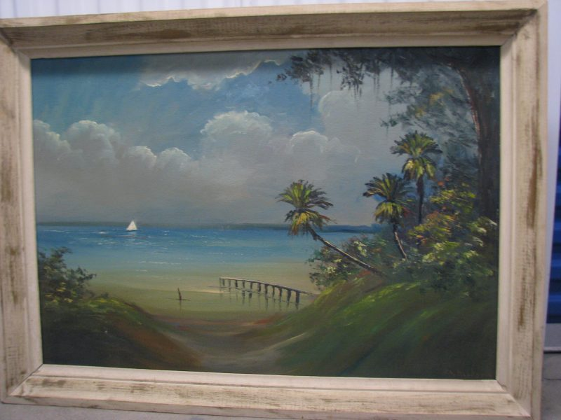 R.A. Roy McLendon (Born 1932), Gentle Breezes, Oil on Upson Board, 61x92cm (Image), 71x102cm (Framed), 1968, Signed.