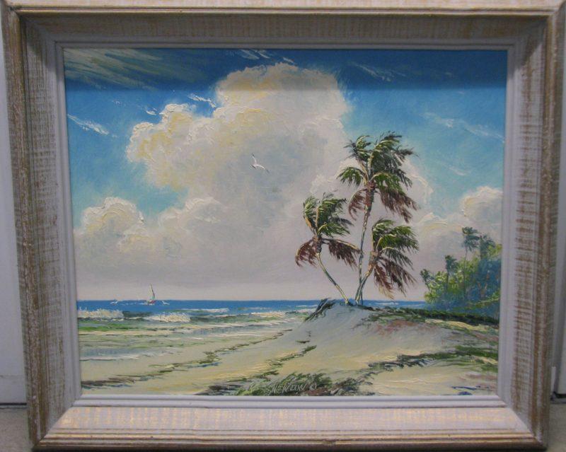 Sam Newton (Born 1948), Rio Mar #3, Oil on Masonite, 46x51cm (Image), 56x61cm (Framed), 2005, Signed.