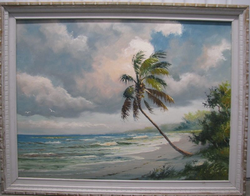 Samuel 'Sam' Newton, (Born 1948), Tranquil Shores, Oil On Masonite, 61x92cm, (Image), 71x102cm (Framed), 1974, Signed. (Part of the Private Collection of Tony Hayton, but not presented in the exhibition)
