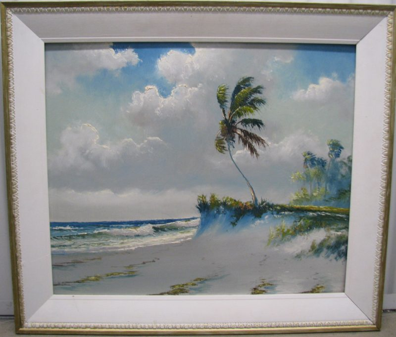Samuel 'Sam' Newton, (Born 1948), Rio Mar #2, Oil On Masonite, 51x61cm (Image), 62x72cm, (Framed), 1995, Signed. (Part of the Private Collection of Tony Hayton, but not presented in the exhibition)