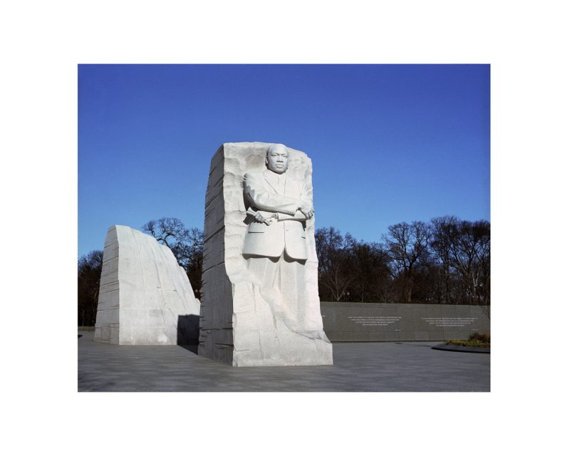 I would like a photo taken of Dr. Martin Luther King Jr.'s memorial located in downtown Washington DC. (Pairing  eleven, 1 of  2)