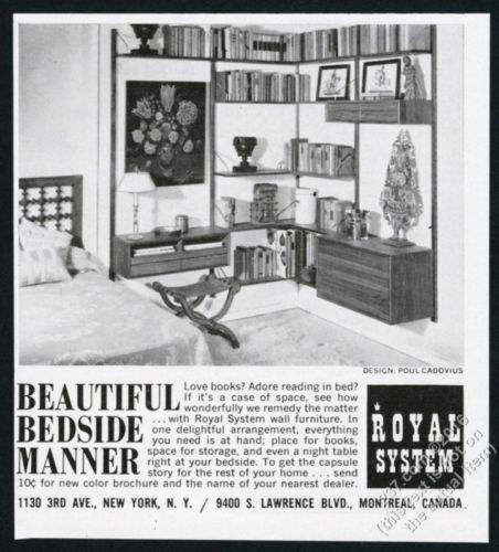 Vintage ads for the Danish Modern Teak Poul Cadovious Royal System 1960's.
