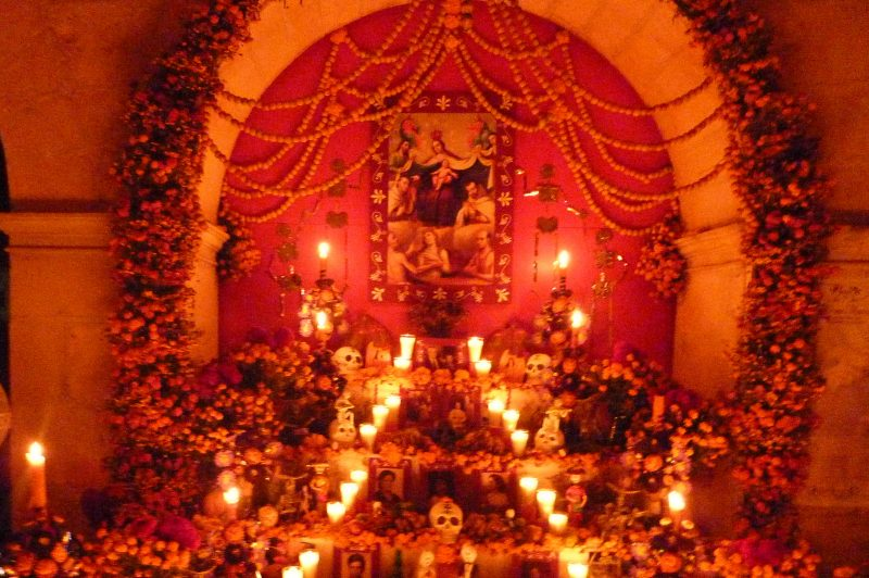 Traditional Day of The Dead Shrine.