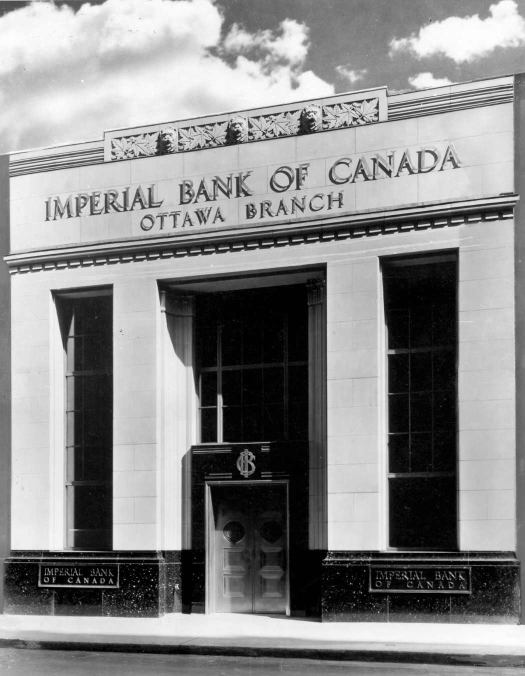 The Emperial Bank. Original photograph of location from the 1930's. New restaurant & bar lounge, coming in Spring 2015.