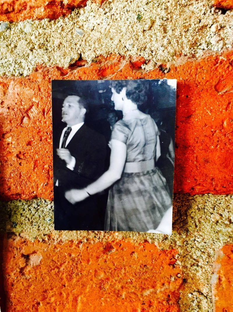 Vintage photograph: My beautiful parents, in love, dancing. 'All Saints' Shrine Installation by LPM Projects along with local participants. Commissioned for the Day of the Dead Celebrations in Puerto Vallarta, Mexico.
