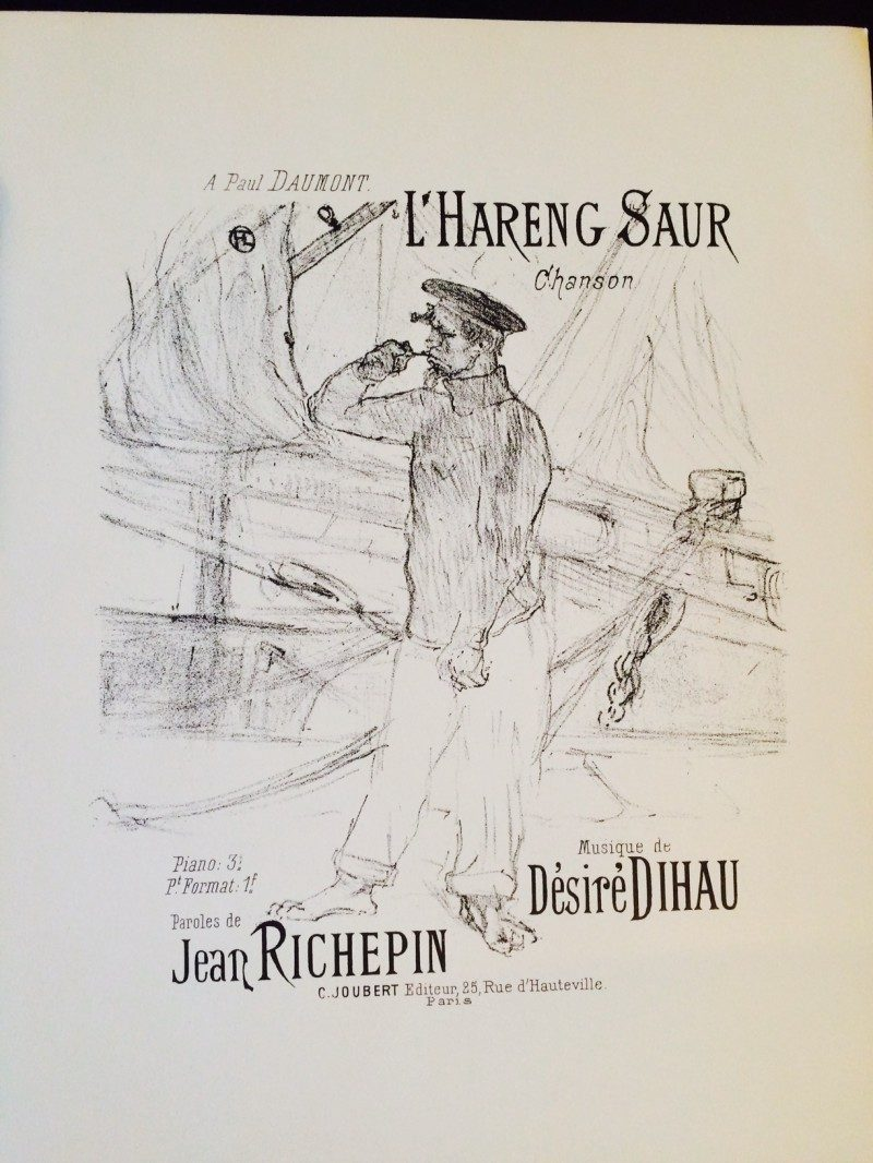 Henri de Toulouse-Lautrec (24 Nov 1864 – 9 Sept 1901) was a French painter, printmaker, draughtsman and illustrator who emersively depicted the elegant and provacative culture of Paris in the late 1800's. 'Reproductions: Eight Rare Song Sheets by Toulouse-Lautrec', New York, 1952. 14.5 x 11.5 inches each. $600. NOW $350.