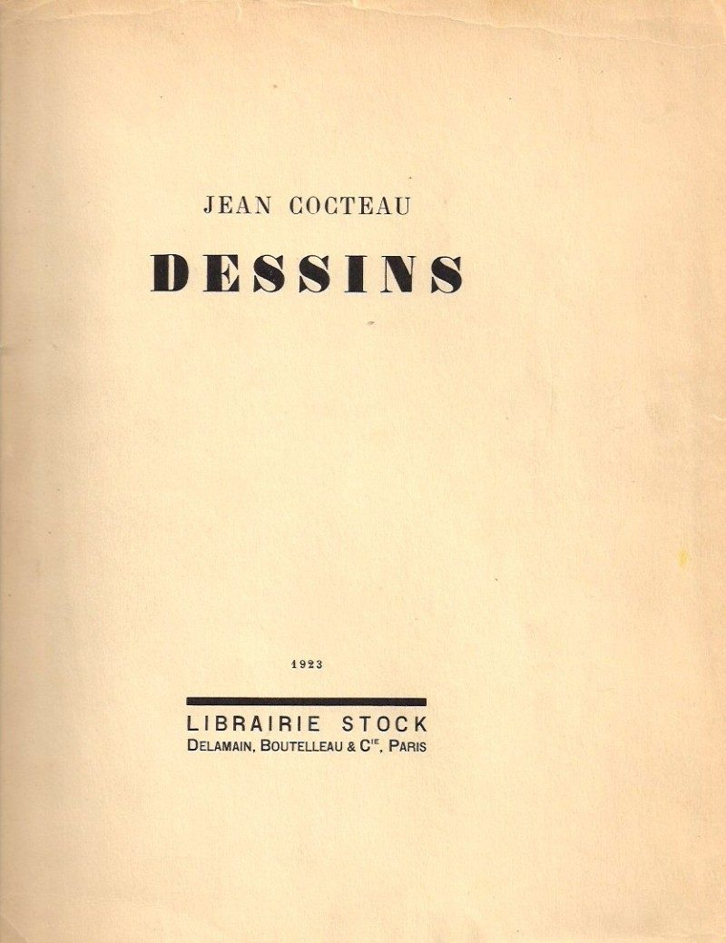 Original Page from Limited Edition Publication 'Jean Cocteau: Dessins'. Paris, 1923. (for reference only).