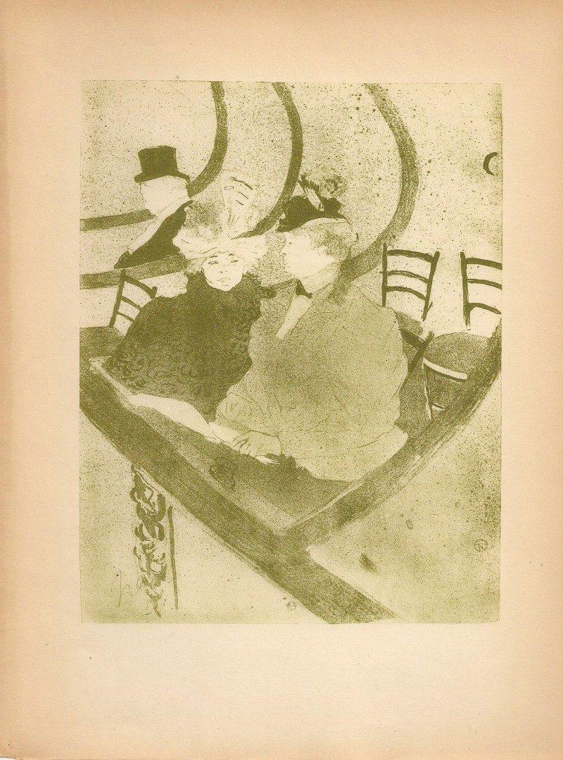 Toulouse Lautrec, Rare Series of Prints from Original 1927 Limited Edition Publication entitled 'Toulouse Lautrec' (Achevé D'imprimer Le 31 Mai 1927 Sur Les Presses De L'Imprimerie J. Langlois, 186 Faubourg, Saint-Martin, Paris (Xe), Edition 1609.). Acquired in New York City from Private Collection.  8 x 10 inches. $225 each.