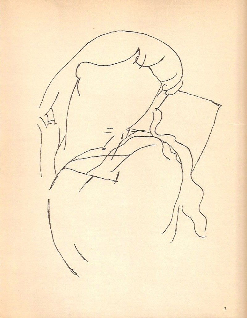 Jean Cocteau, Rare Print from Original 1923 Limited Edition Publication entitled 'Jean Cocteau: Dessins' (Librairie Stock, Delamain, Boutelleau et Cie, Paris). From Book Originally Hand Signed By Cocteau to Georges Prade, 1923. Acquired in New York City from Private Collection. 9 x 11 inches. (some tear), $225 each.