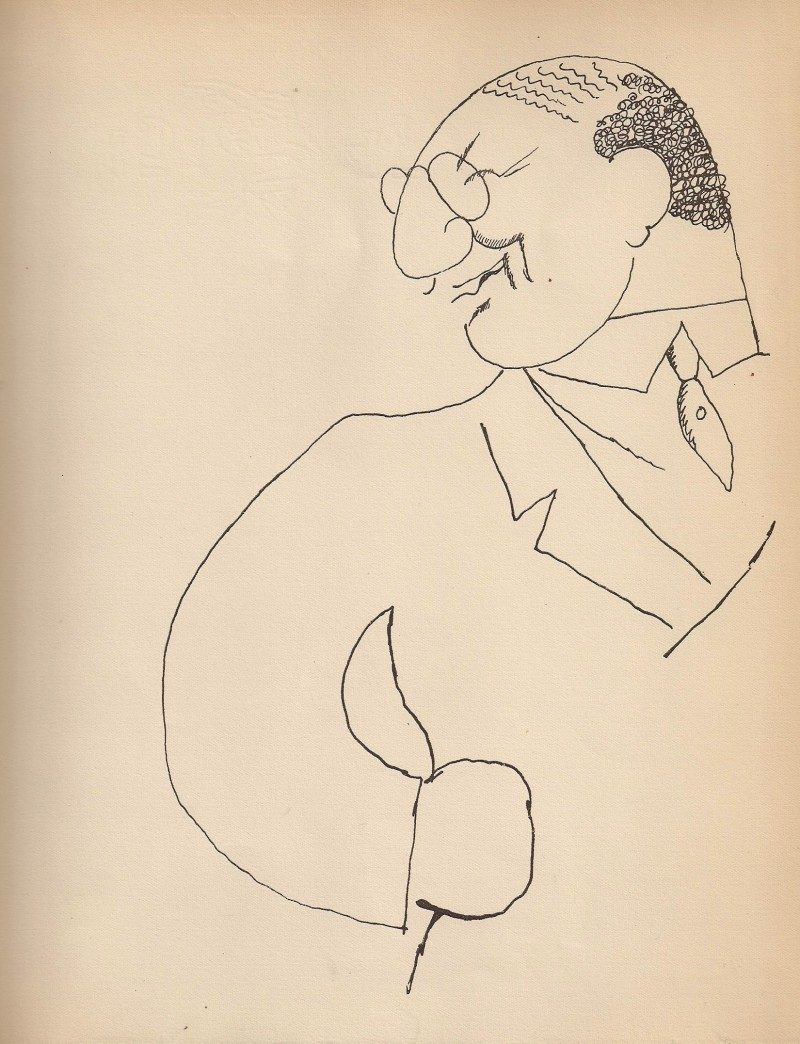 Jean Cocteau, Man in Suit, Rare Print from Original 1923 Limited Edition Publication entitled 'Jean Cocteau: Dessins' (Librairie Stock, Delamain, Boutelleau et Cie, Paris). From Book Originally Hand Signed By Cocteau to Georges Prade, 1923. Acquired in New York City from Private Collection. 9 x 11 inches. $225 each.