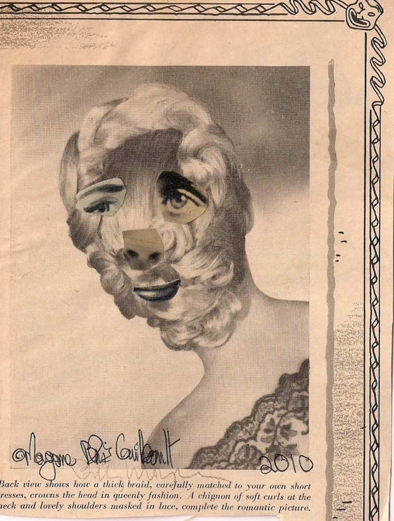 Unknown Artist, Collage with Vintage Publication, 4.75 x 4.5 inches, 2010, $45.
