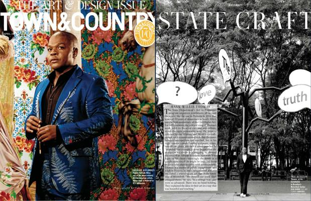Press: Town & Country - 'State Craft', written by Kevin Conley, Arts Editor.