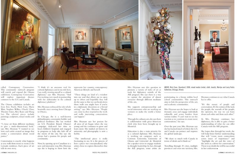 Story in Ottawa Life Magazine by Marie Waine, all about Art in Embassies, Contemporary Conversations, and many of the cultural programs. Photographs courtesy of Paul Couvrette.