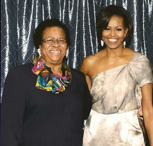 First Lady Michelle Obama & Mary Ann Carroll.