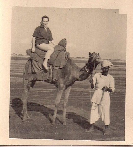Beautiful Vintage Original Photograph Woman & Camel. Silver Gelatin Print. Measures 1.75 x 1.75 inches. Mint Condition. Date & Origin Unknown. $25.