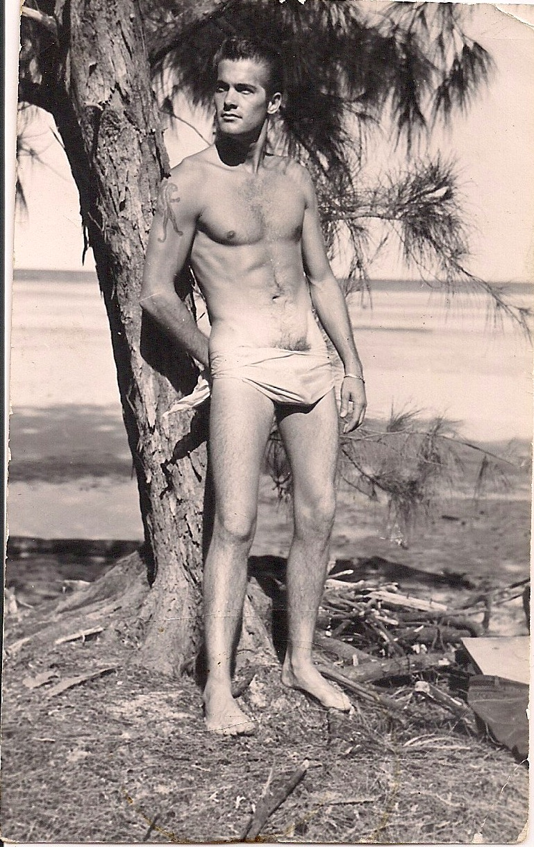 Beautiful Vintage Photograph, Hot Man with Fab Package, Measures 2.5 x 4 inches. $45.00