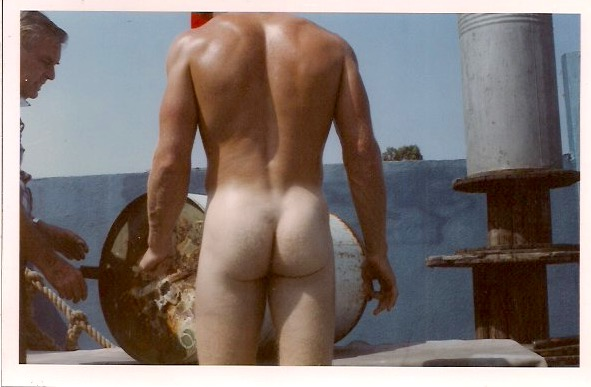 'Man & Buttocks', Vintage Color Photograph, 6 x 4 inches, $25.