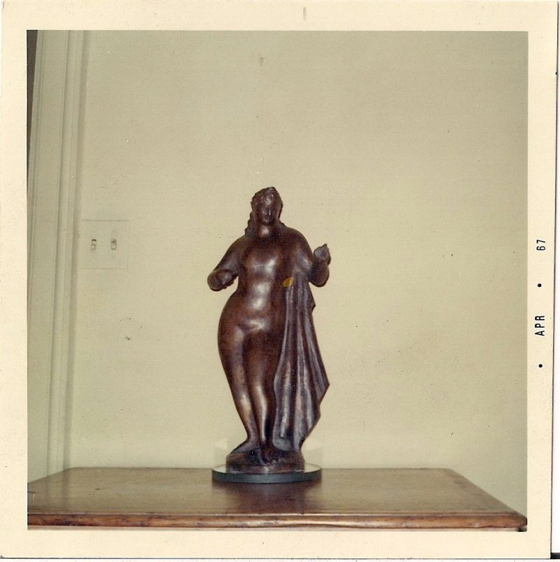 Vintage Photograph, Sculpture by Elie Nadelman (born Eliasz Nadelman; February 20, 1882 – December 28, 1946) was a Polish-American sculptor, draughtsman and collector of folk art. Dated April 1967. Measures 3.5 x 3.5, $15.