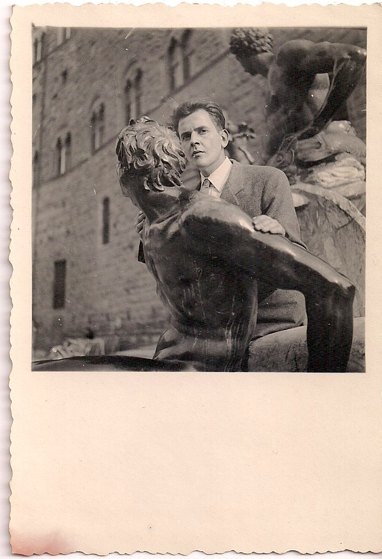 Vintage Photograph, Young Man in Florence, Written in pencil on verso: 'Mauricio Aguilar, Florence 1948'. Measures 2.5 x 3.5 inches. $15