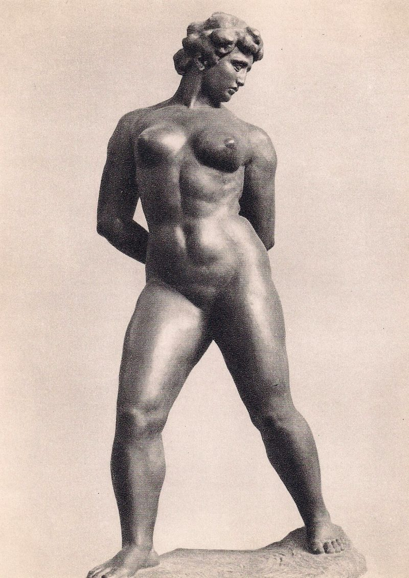Maillol, Musee D;Art Moderne, Paris. Authentic Vintage Photographic Postcard, 1940-50's, Measures 4.5 x 5 inches (card sizes vary), Mild to no aging, $10.