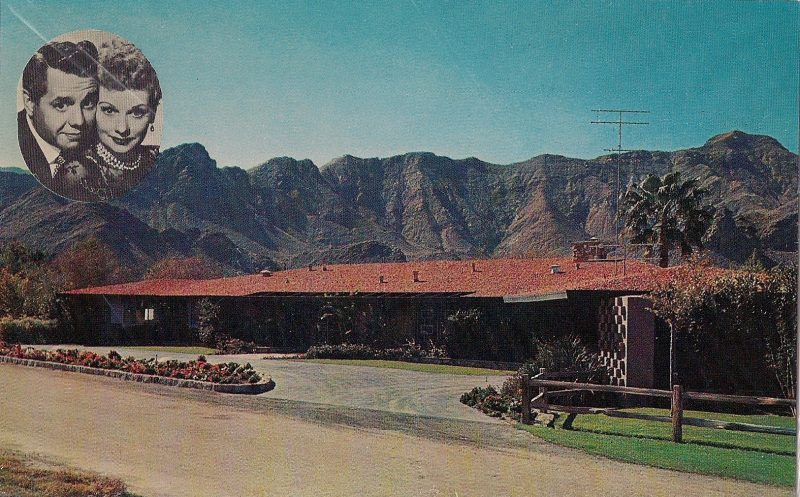 Palm Springs,, California, Home of Lucille Ball & Desi Arnaz. Authentic Vintage Photographic Postcard, 1940-50's, Measures 4.5 x 5 inches (card sizes vary), Mild to no aging, $10.