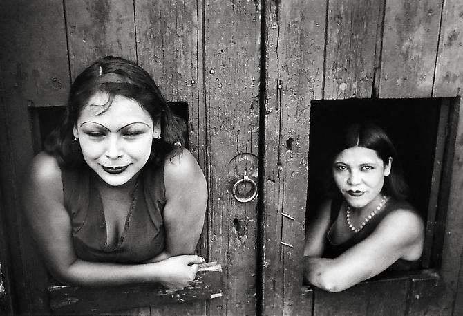Henri Cartier-Bresson (France: 1908-2004), Calle Cuauhtemoctzin, Mexico City, 1934, Silver Gelatin Print, 5 x 7 inches, Written on Verso: 'Henri Cartier-Bresson. Calle Cuauhtemoctzin, Mexico, 1934. 'Momenti decisivo', 1998. For the 1998 Exhibition First Photographs at Expositions Palace, Rome, Italy' Unframed. Unsigned. USD$SOLD.