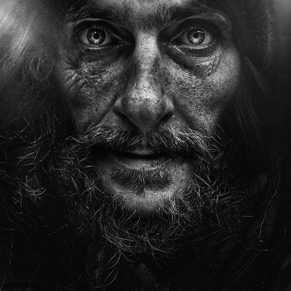 Photograph by Lee Jeffries, from the 'Windows to the Homeless Soul' Series.