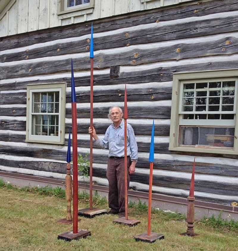 Herman Ruhland at his farm in North Gower, Canada.