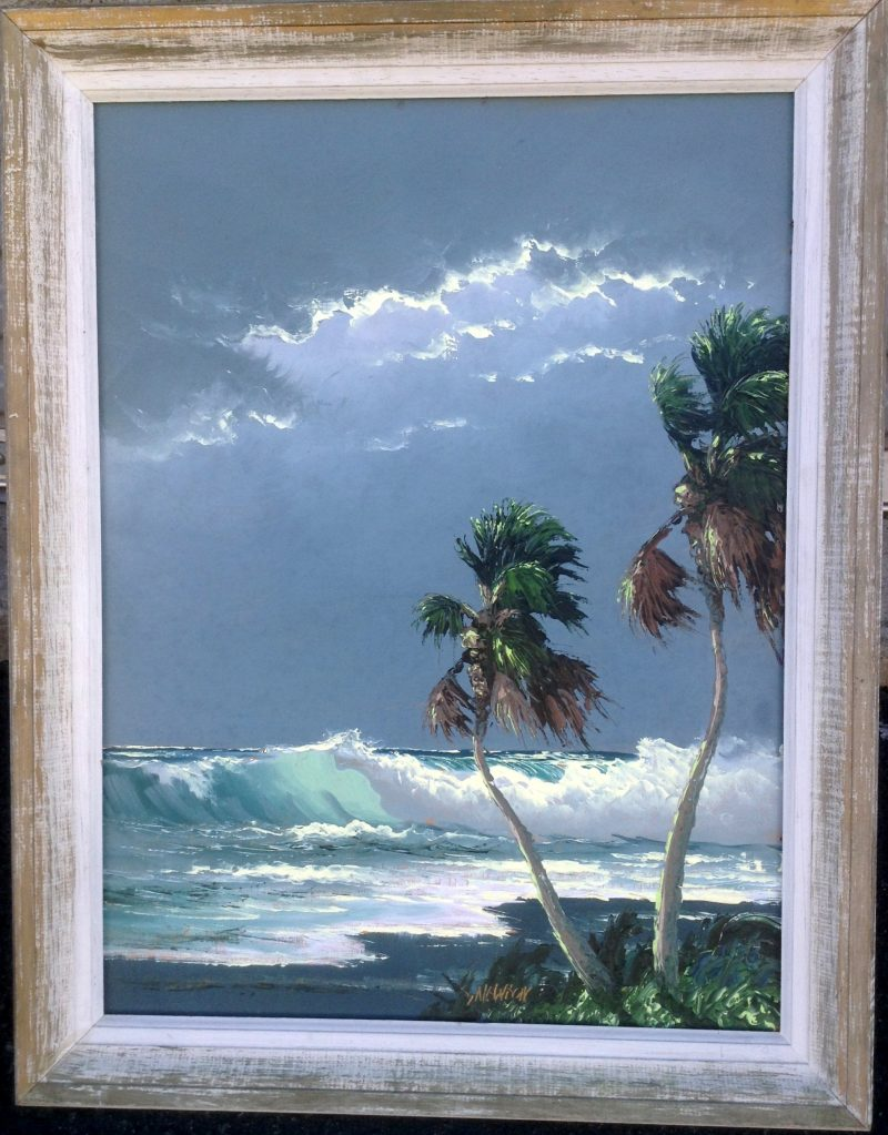 Sam Newton (Born 1948), Stormy Surf, Oil On Upson Board, 46 X 61cm (Image), 63 X 77cm (Framed), 1967, Signed, On Loan To Art In The Embassies.