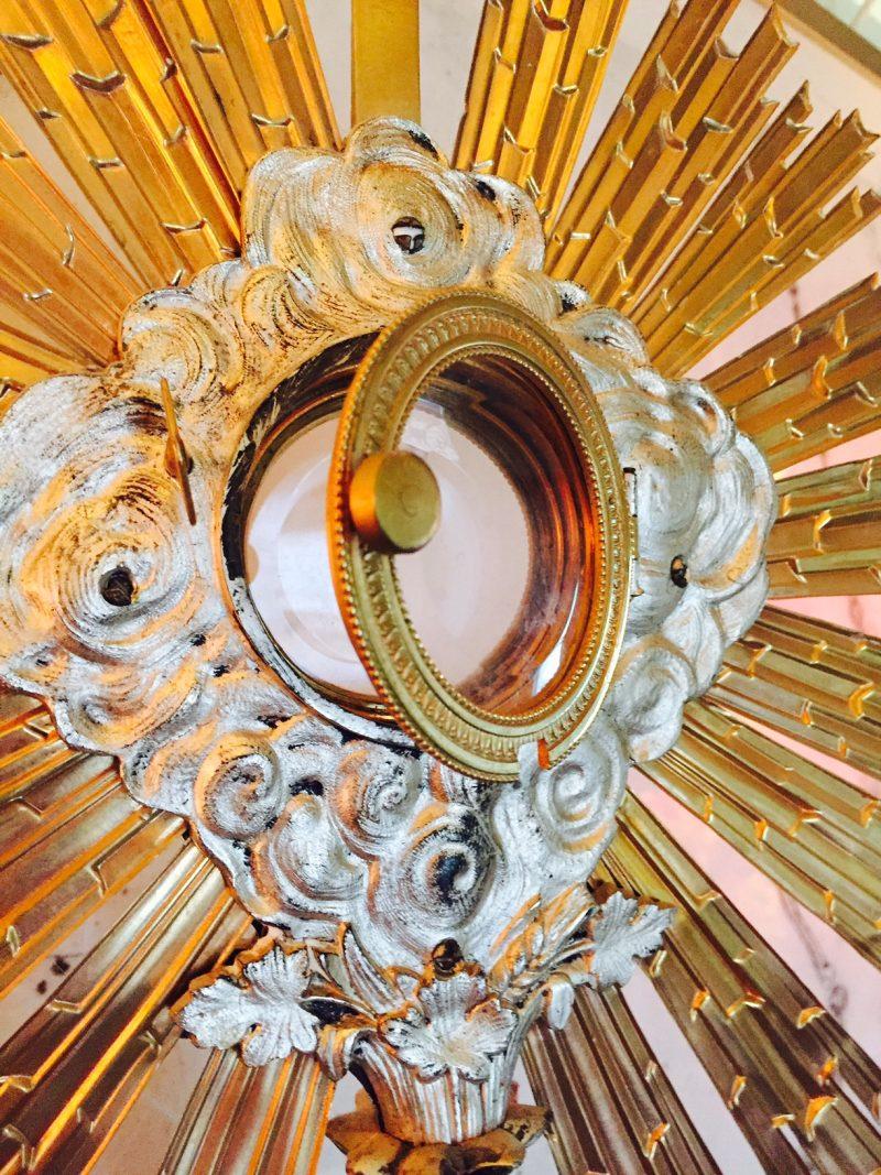 Ornate Catholic Altar Reliquary Monstrance