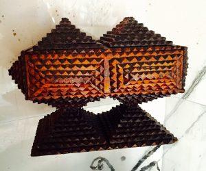 Rare Tramp Art Jewellery Box