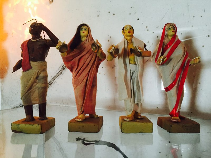 Set of Four Antique India Clay Sculptures.