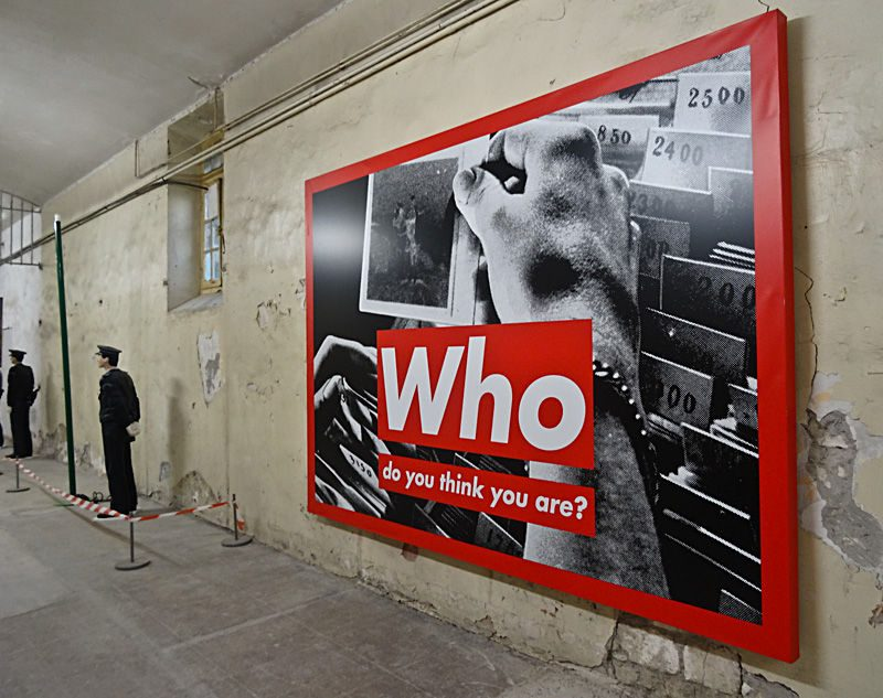 'Who Do You Think You Are' by Barbara Kruger. The original, in full format & display.