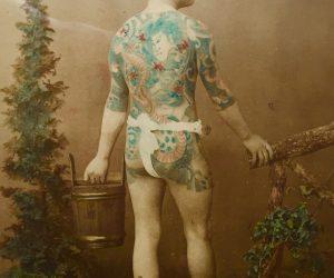 Rare Antique Japanese Tattoo Photograph