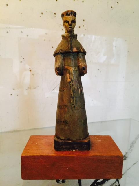St Anthony Religious Wood Statue 1875