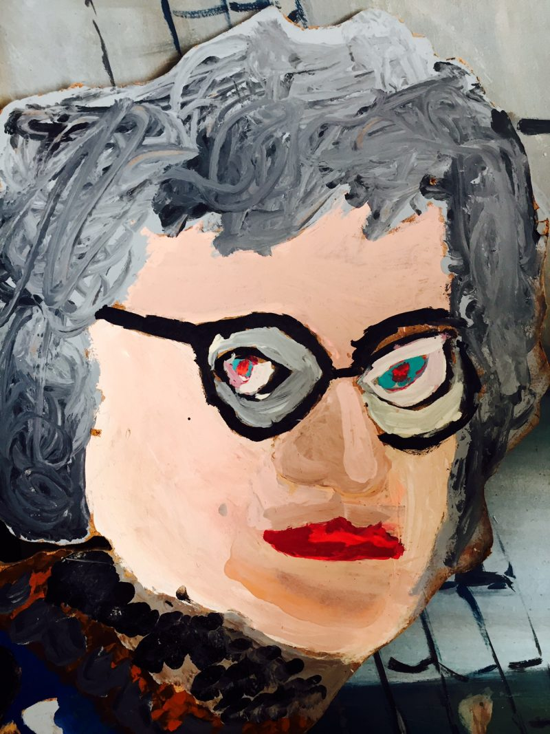 Edith the Bird Lady Artwork / scary closeup.