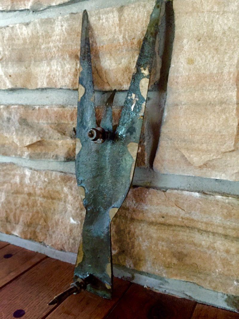 'Bird in Flight', Art Price, Solid Bronze Sculpture. Back View.