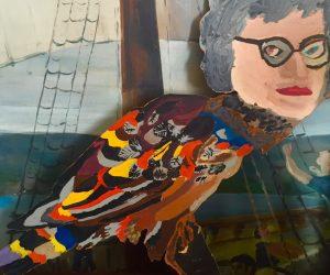 Edith The Bird Lady Sign/Art