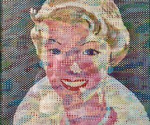 Rare Cut/Woven Portrait Painting