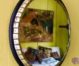 Unique Vintage Oval Mirror