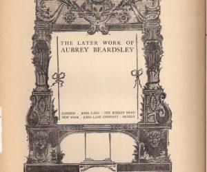 Aubrey Beardsley 1911 Prints