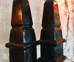 Pair of Black Plinthes