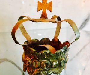 Antique Metal Religious Crown
